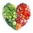 Heart shape of vegetables